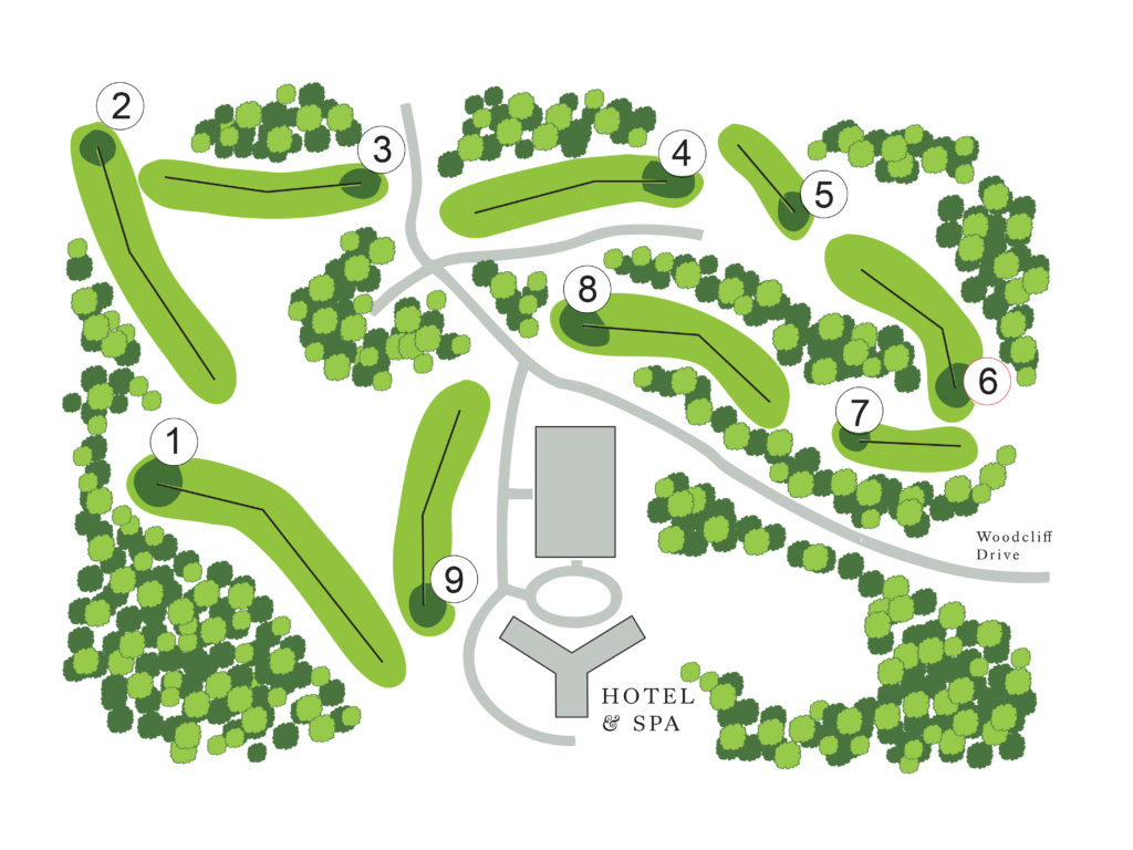 Map of the Links at Woodcliff